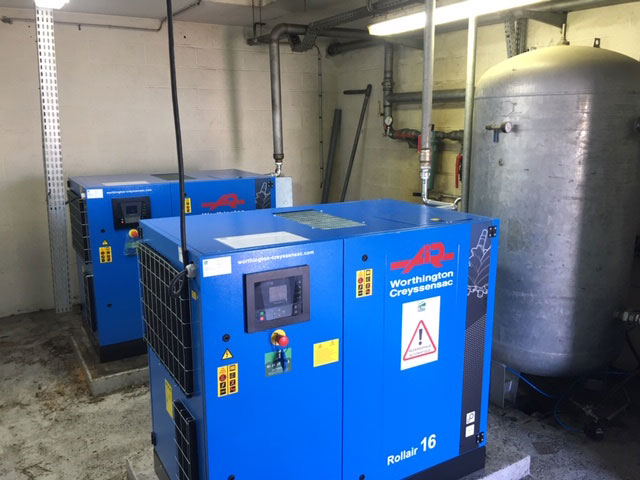 Compresseurs d'air industriels installés par Ultra Service