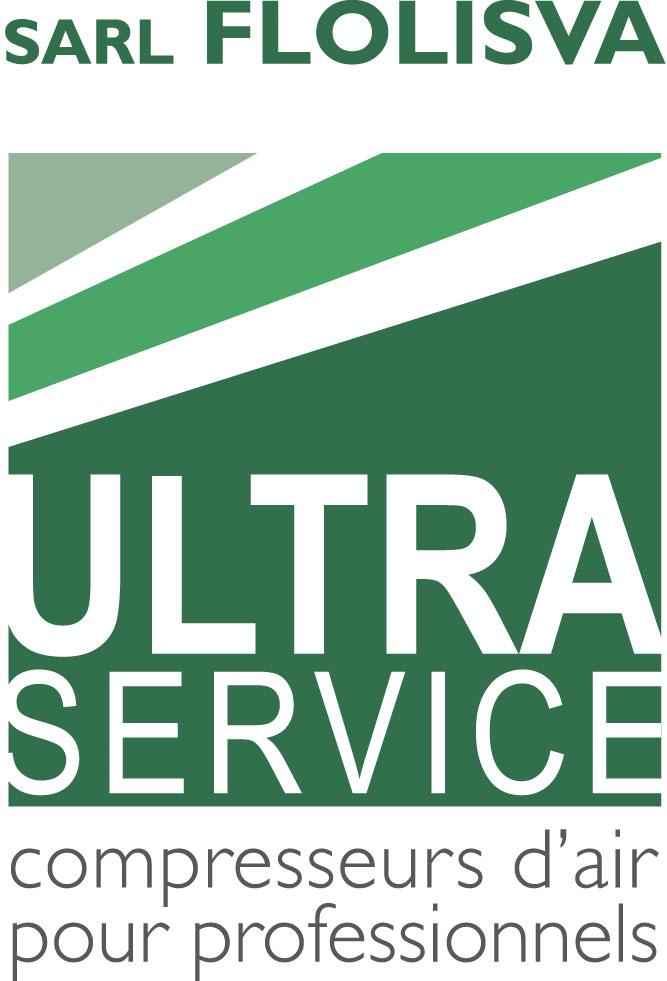 Logo de la société Ultra Service spécialiste des compresseurs à air industriels