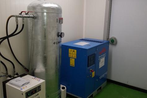 Compresseur d'air à vis lubrifiée